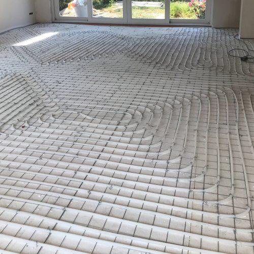 Aanleg en installatie van vloerverwarming